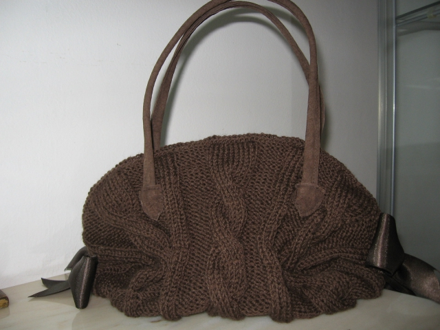 Borsa in lana marrone