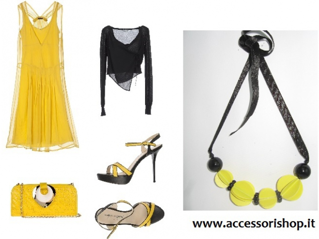 Collana yellow and black